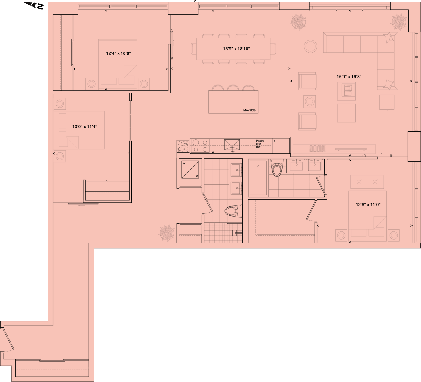Warehouse Lofts Toronto Floorplan